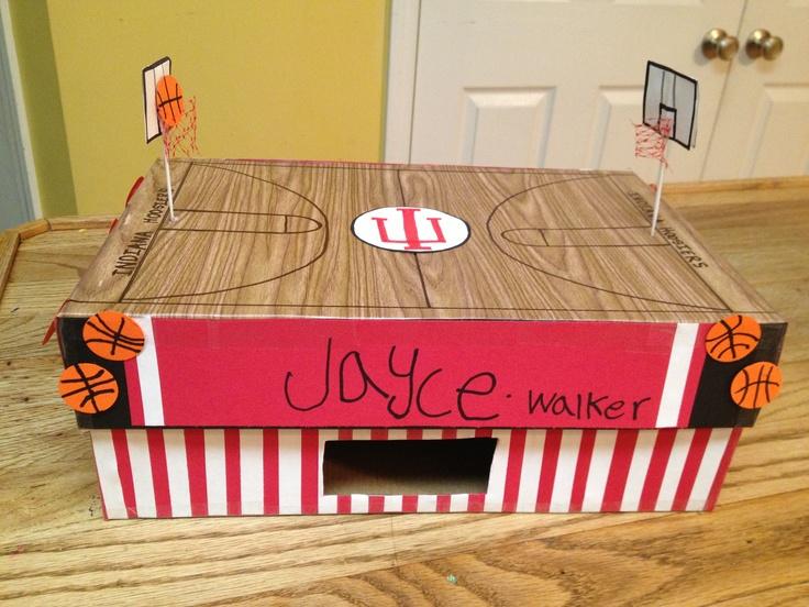 Indiana Hoosiers basketball valentines box