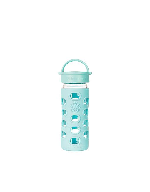 Lifefactory Glass Drink Bottle Turquoise 355ml