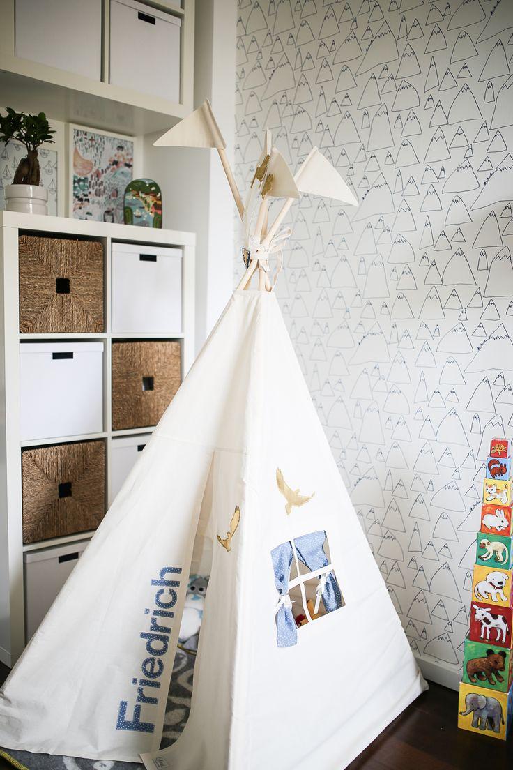 friedrichs neues kinderzimmer kids teepee tents pinterest cabanes. Black Bedroom Furniture Sets. Home Design Ideas