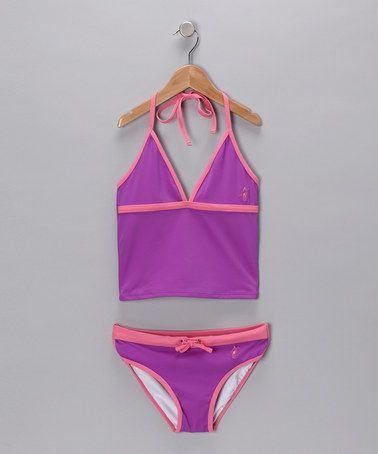Take a look at this Purple & Pink Tankini by Toes on the Nose on #zulily today!