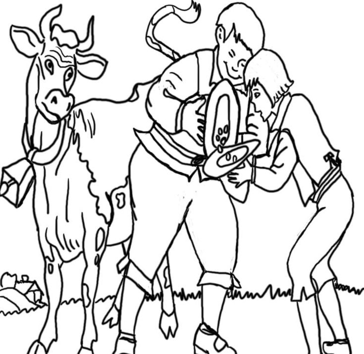 jack and the beanstalk pictures to color Jack And The ...