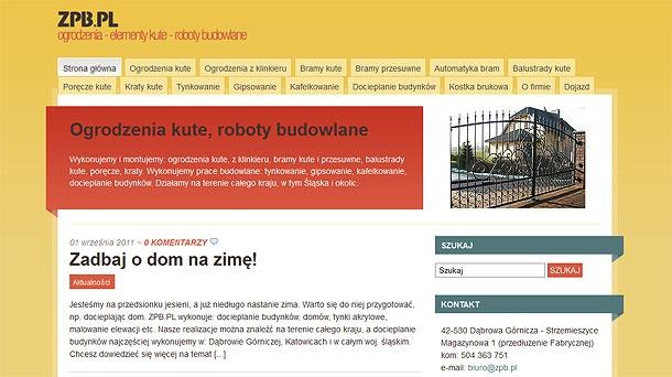 Kompleksowa obsługa serwisu zpb.pl