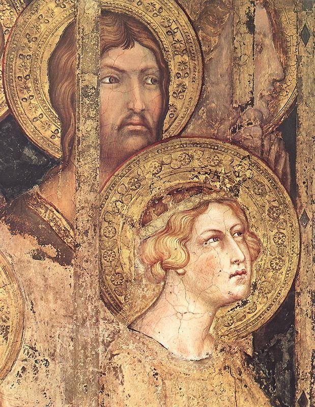 Simone Martini - Maestà, dettaglio - affresco - 1312-1315 - Siena - Palazzo Pubblico, Sala del Mappamondo
