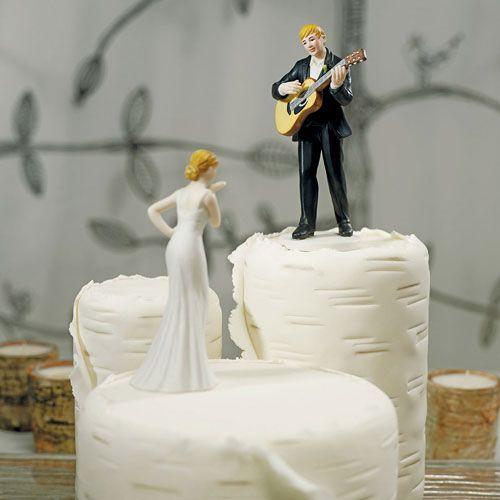 Guitarist Groom Wedding Cake Topper Lighthouse