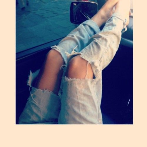 Distressed Jeans!!!