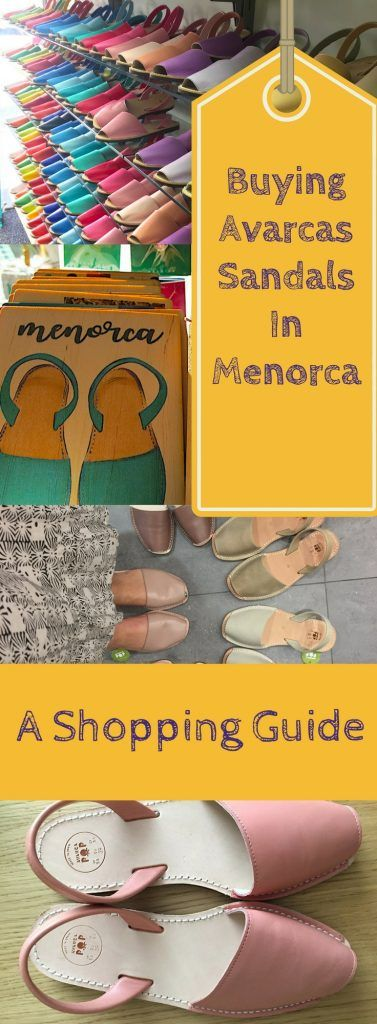 SavoirThere.com  - Where to Buy Avarcas In Menorca - 4 of the best places to shop for sandals on the Balearic Island