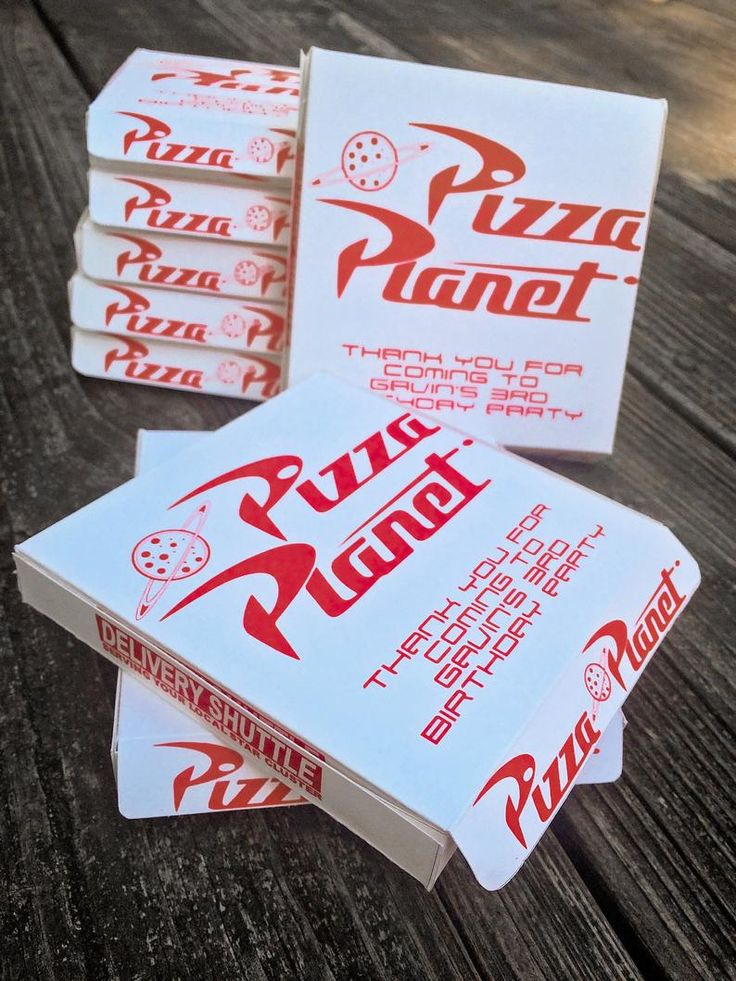Toy Story Pizza Box Template, Pizza Cookie Favor