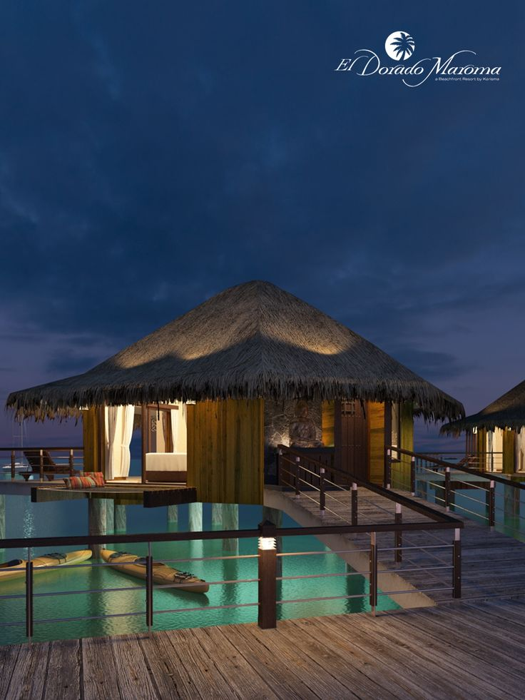 The new over water bungalows at El Dorado Maroma