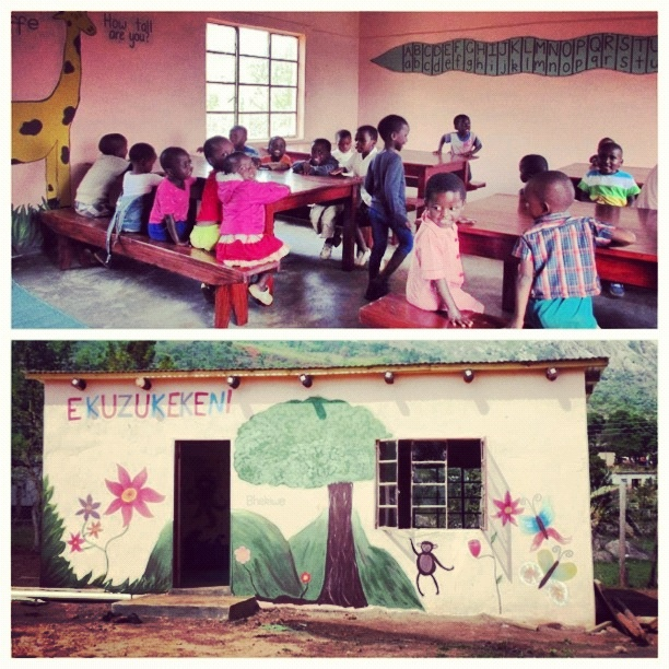 The result of 2-months hard work for Georgie Ross and her fellow Gappers in Swaziland! New desks, benches, blackboard, carpet, textbooks and pencils for many orphaned and vulnerable children. #inspiring #antipodeans