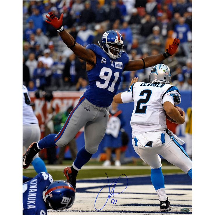 Justin Tuck Signed Sacking Jimmy Clausen 16x20 Photo - Giants former Defenisve End Justin Tuck has personally hand-signed this Sacking Jimmy Clausen 16x20 Photo-Ever since he came into the National Football League in 2005 Justin Tuck was a beloved fan favorite as a member of the New York Giants. While in New York he was a two-time Pro Bowl Defensive End for the New York and captured two Super Bowl Championships. As one of the most popular Giants the two-time All Pro striked fear in opposing…