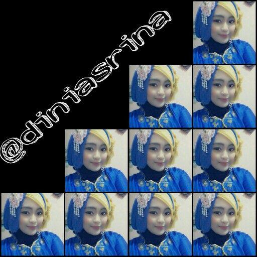 Blue and gold kebaya