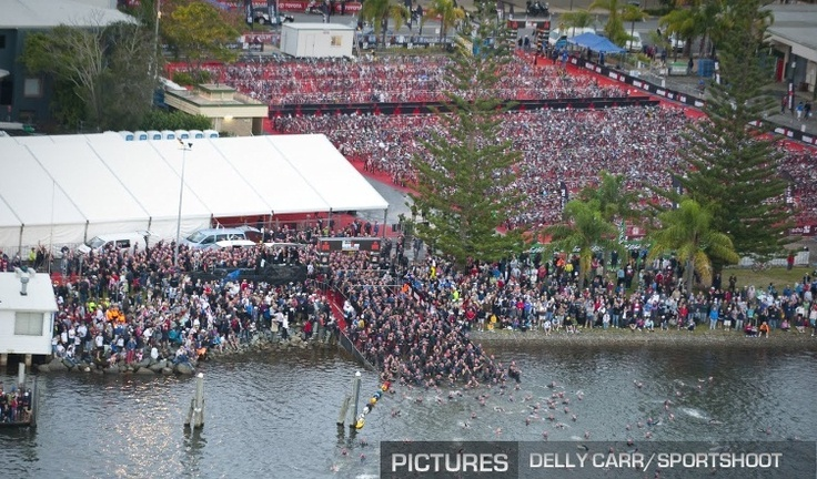 Swim at Port Macquarie - Ironman Huge event.... the heart these people have is  beyond belief