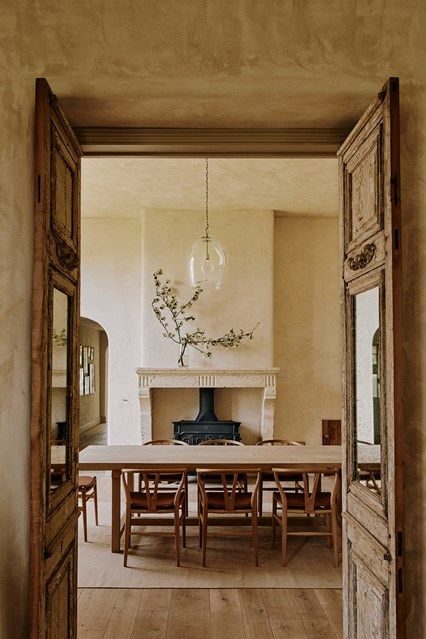 Explore our dining room design ideas on HOUSE - design, food and travel by House & Garden, including this room with an oak table