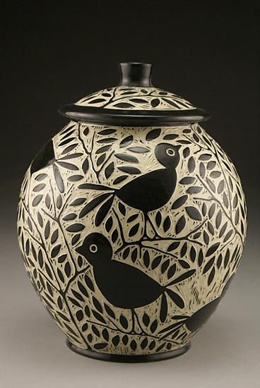Blackbird Cookie Jar: Jennifer Falter: Ceramic Cookie Jar - Artful Home