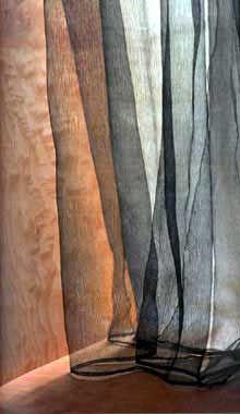 peter zumthor / hand-painted silk curtains, kolumba museum