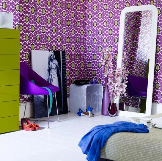 Purple Home | Purple Wall Decorating On |Decorative Home Interior