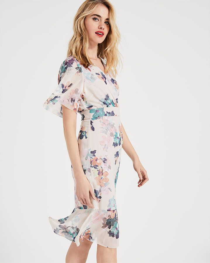 83a92bd10ff Phase Eight Keely Floral Dress Cream