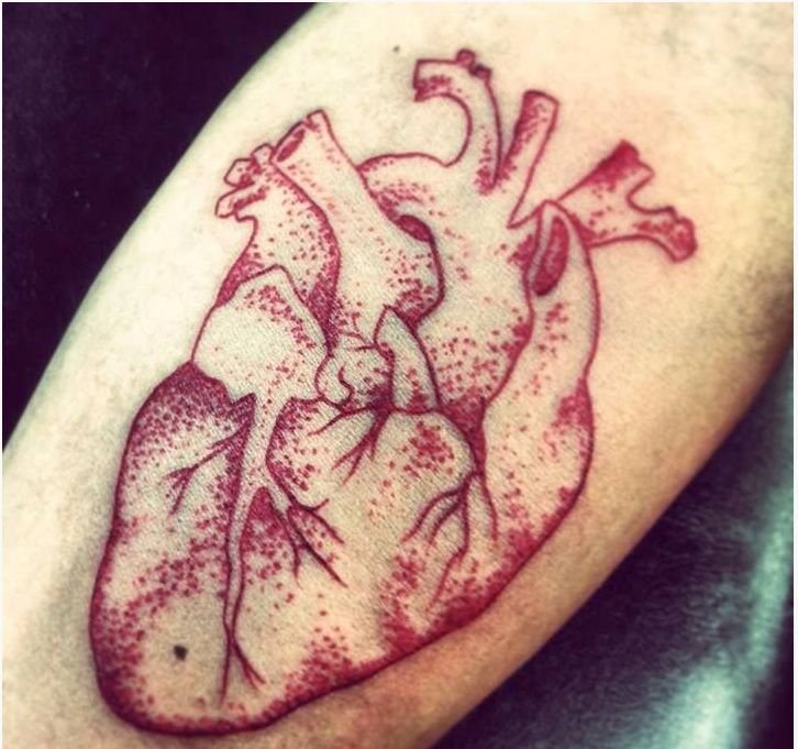 real heart tattoo outline - Google Search