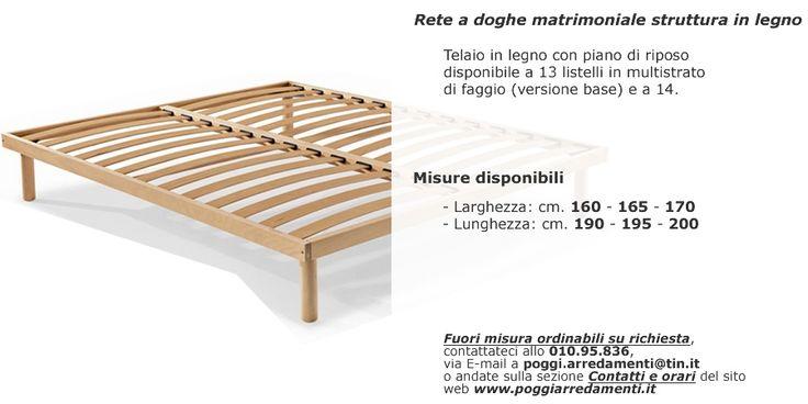 Rete a doghe in legno singola e matrimoniale #PoggiArredamenti #Genova