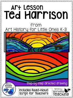 Ted Harrison FREE guided art lesson focusing on warm and cool colors.