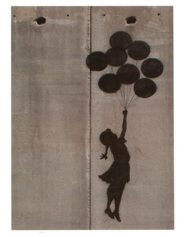 Banksy's Balloon Girl - Banksy is best known for his bold graffiti, but he is also a political activist, film director, and painter.