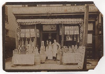 RICKBORN & MEYER GROCERY STORE KINGSTON NEW YORK ANTIQUE STORE DISPLAY PHOTO