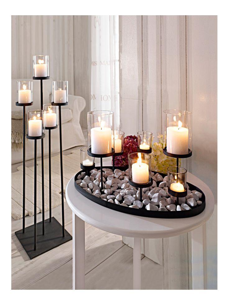heine tischleuchter schwarzbraun kerzenhalter im wohnen shop auf zuk nftige. Black Bedroom Furniture Sets. Home Design Ideas