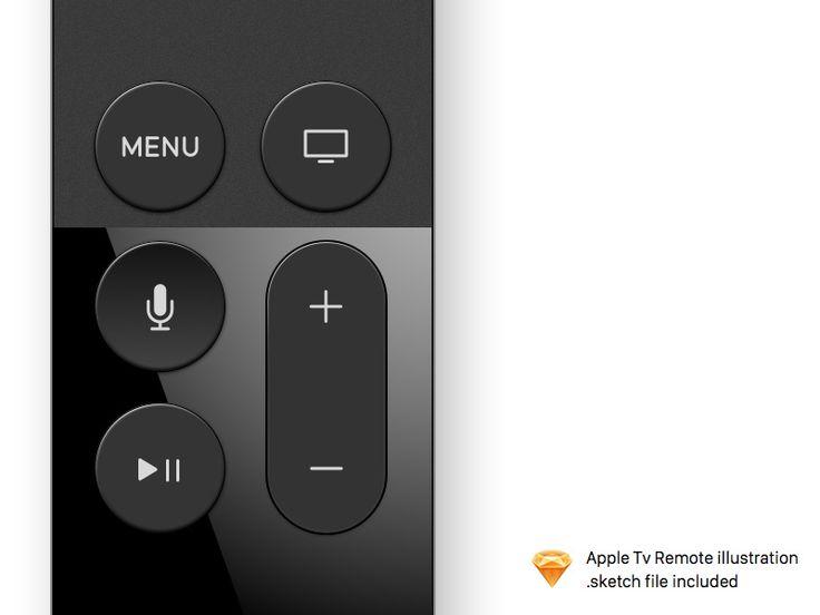 Apple TV Remote Illustration