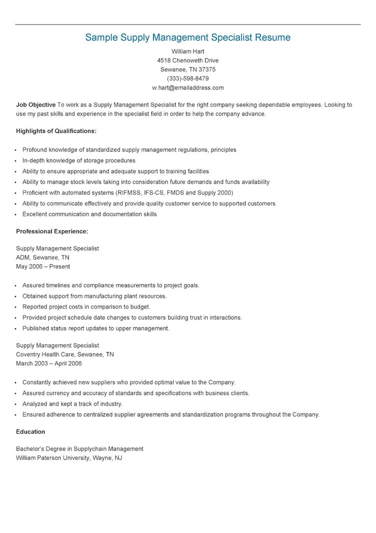 235 best resame images on Pinterest Website, Sample resume and - inventory management specialist resume