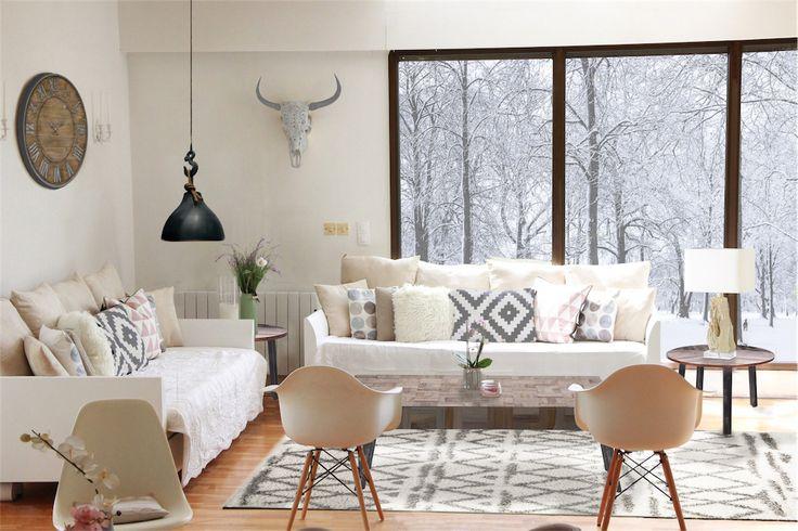 STYLE CHALET CHIC Inspiré des hôtels de montagne et des chalets de ski contemporains...