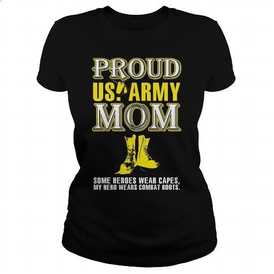 Proud army mom - #white shirts #custom sweatshirt. MORE INFO => https://www.sunfrog.com/LifeStyle/Proud-army-mom-139101996-Black-Ladies.html?60505