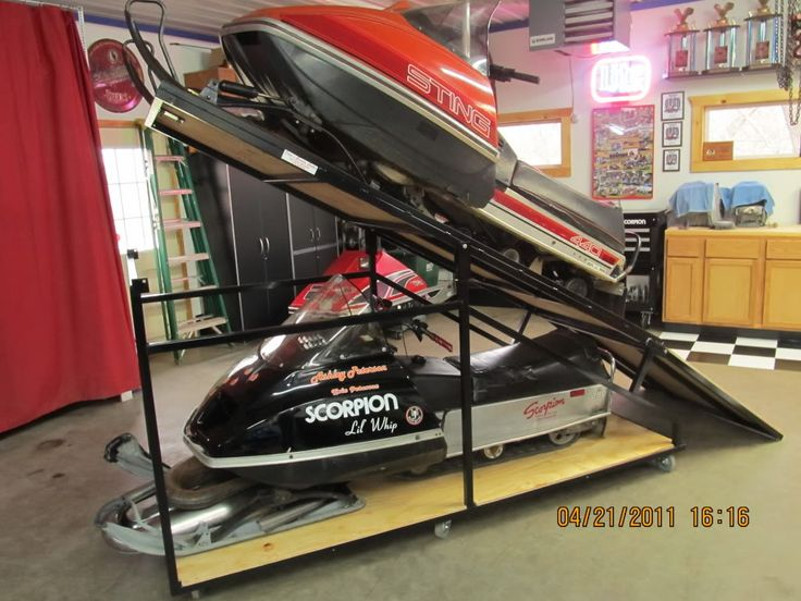 Snowmobile Storage Rack Plans Google Search