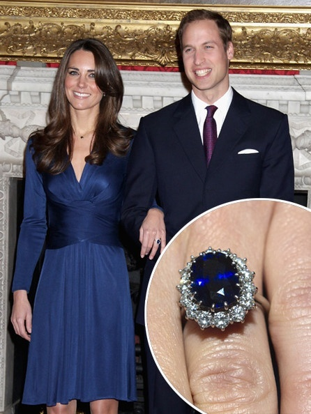 Prince William got down on bended knee and presented this 18-carat sapphire diamond ring to Kate Middleton. The gem was said to belong to the Prince's late mother, Princess Diana. This ring marks the start of the newest trend in jewelry today: non-traditional engagement rings.