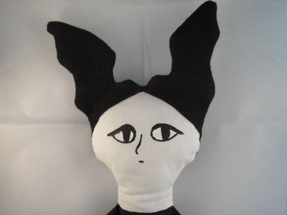 So fun! Edward Gorey WGBH Mystery Doll Gothic Woman by SpindleandSparrow, $40.00