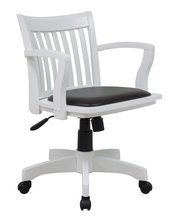 Bankers Wood Swivel Chair White Finish Espresso Padded Seat 152 99 My Daughter Pinterest And