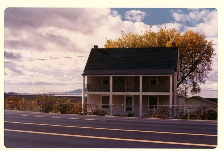 Whitaker Homestead in 1973, in Willard, Utah. The house celebrated its centennial in 1964 when it was still occupied by members of the Whitaker family.