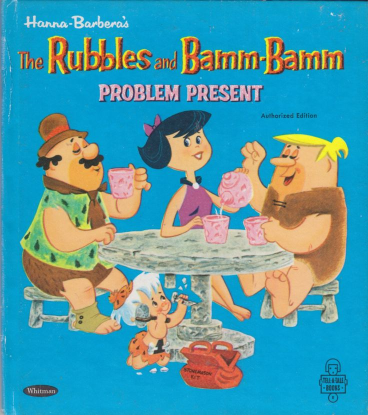 Title: Hanna Barbera's The Rubbles and Bamm-Bamm - Problem PresentSeries: Tell-A-Tale 2689 Characters: Barney Rubble, Betty Rubble, Bamm-Bamm Rubble, Fred Flintstone, Dino, Uncle Rocky Gemstone,...
