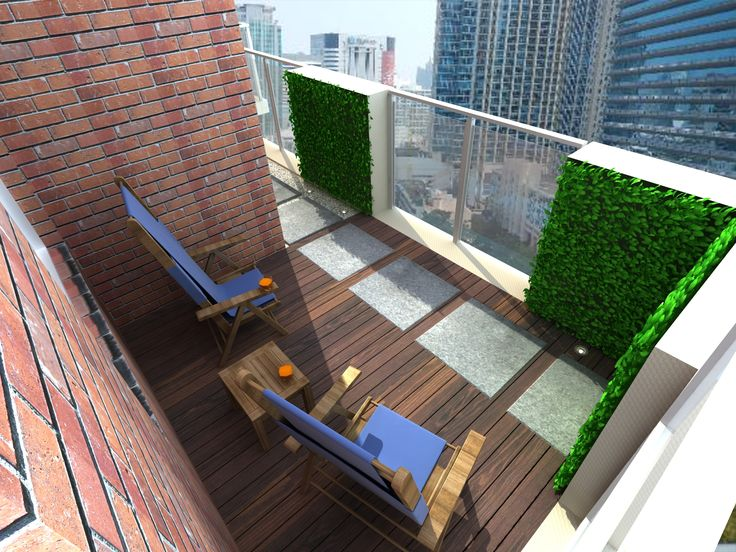 17 best images about large condo terrace designs on pinterest for Condo balcony design