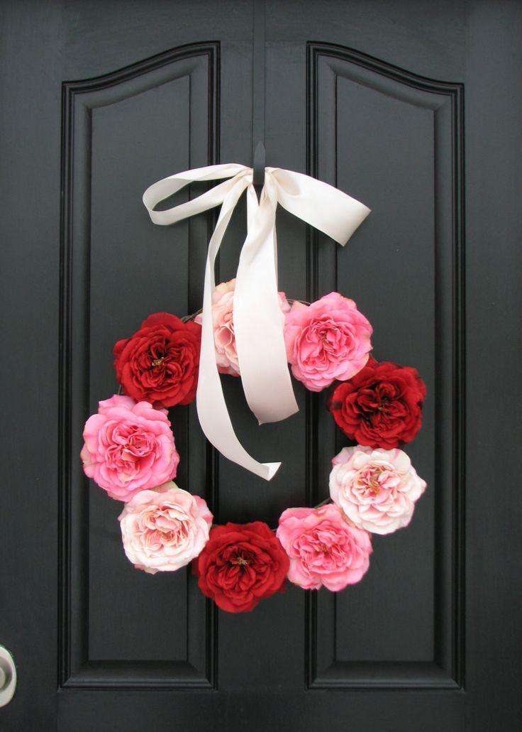 Valentine+Wreath+Valentine's+Day+Decorations+Pink+by+twoinspireyou,+$90.00