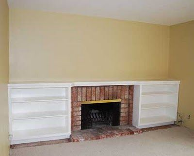 bookshelves around fireplace - Google Search