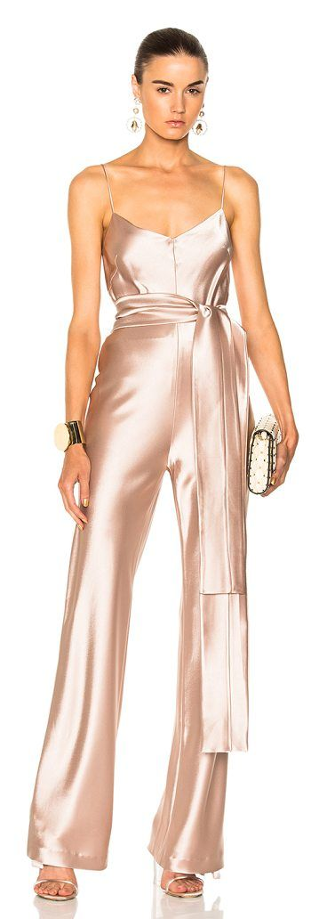 for FWRD Slouchy Jumpsuit With Waist Tie by GALVAN. Self: 81% triacetate 19% polyLining: 95% silk 5% elastan. Made in UK. Dry clean only. Belted waist. GALF-WR13. 812 03...