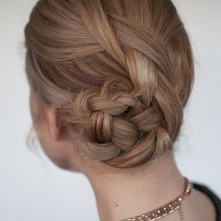 """The twist braid updo is this week's new braid hairstyle tutorial. It's easier than it looks and is perfect for medium length hair. In my recent Q&A video, Jordan asked me """"If you could only do one hairstyle for the rest of your life, what would it be?"""" I found it so hard to choose...Read More »"""