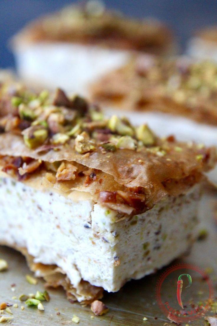 Baklava Pistachio Sandwich Ice Cream