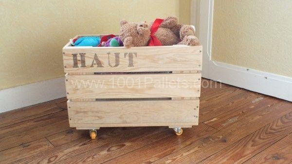 Des caisses de rangement sur roulettes / Storage boxes on wheels | 1001 Pallets
