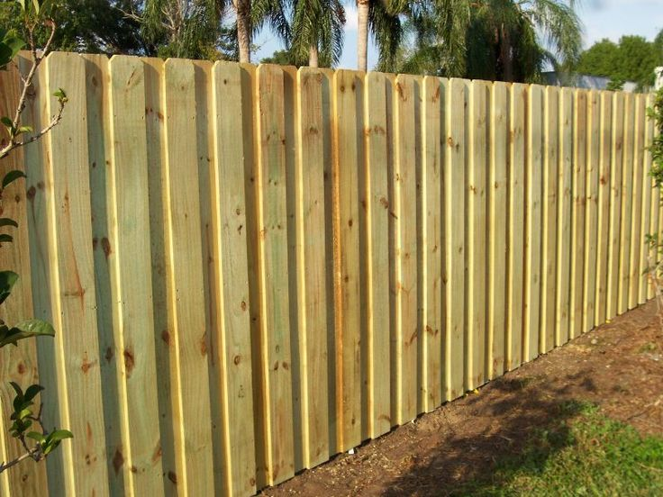 Board On Board Fencing Fence In 2019 Wood Fence Design