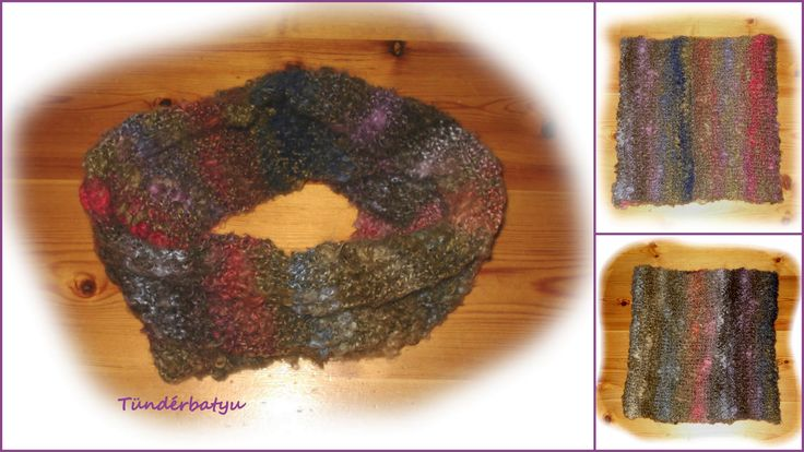 circle scarf with beautiful autumn colours www.facebook.com/tunderbatyu