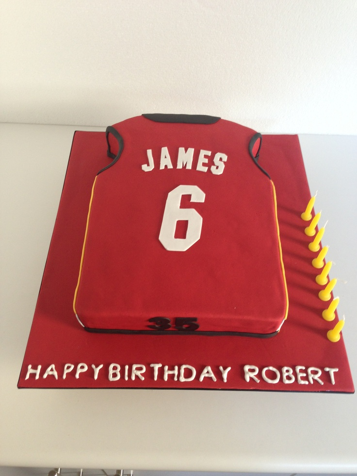 Cake Decorating Yarraville : LeBron James Basketball Jersey Cake by Finesse Cakes ...