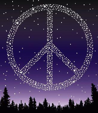 Peace & Love - purple Photo