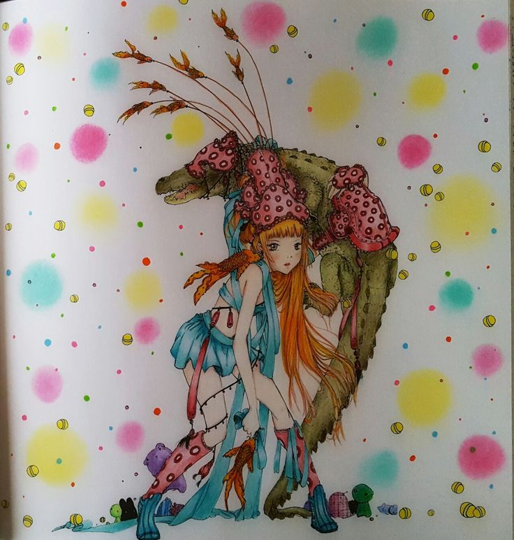 Camilla D Errico Pop Manga Coloring Book Coloured By