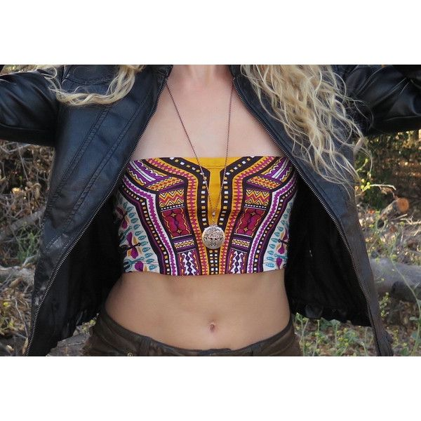 Pachamama Crop Top Pixie Top Tube Top Festival Top Festival Shirt Goa... (€11) ❤ liked on Polyvore featuring tops, crop tops, dark olive, women's clothing, hippie tops, hippie shirt, shirt top, checkered shirt and tube top